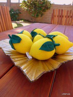 Felt Lemons