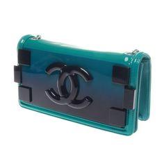 c578f0d4536a Chanel Turquoise Iridescent Plexiglass Lego Boy Brick Flap Bag 2 Teal Quilt,  Blue Ombre,