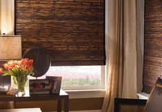 KITCHEN -- Edge Band (Tape ) Century Bamboo Shades - Woven Shades  These bamboo shades for three windows in kitchen.