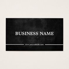 Grunge Dark Investment Banker Business Card