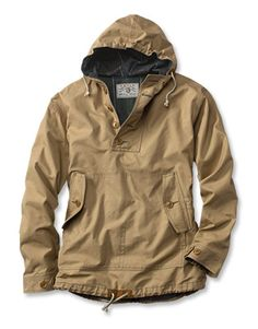 Waxed Cotton Anorak  Shut out harsh wind and rain in our men's hooded anorak jacket