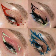 Punk Makeup, Dope Makeup, Eye Makeup Art, No Eyeliner Makeup, Pretty Makeup, Makeup Inspo, Makeup Inspiration, Eye Makeup Designs, Alternative Makeup