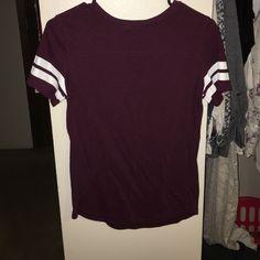 Maroon VS shirt Good condition! Victoria's Secret Tops Tees - Short Sleeve