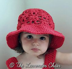 Ravelry: Weeping Willow Sun Hat for Kids pattern by Dorianna Rivelli