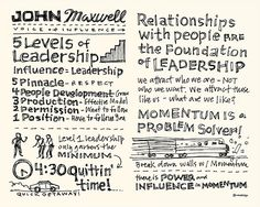 Leadercast Sketchnotes - John Maxwell by Mike Rohde Educational Leadership Quotes, Leadership Articles, Leadership Programs, Leadership Coaching, Leadership Development, Leadership Conference, Personal Development, Life Quotes Love, Book Quotes
