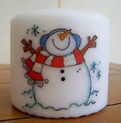 christmas stamp candles | Creative-Crafts-Cardiff