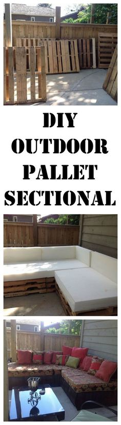 DIY an outdoor sectional from pallets. http://www.hometalk.com/l/cHG: