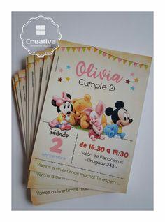 Disney Babies Invitaciones super delicadas.  #DisneyBaby #Minnie #Mickey #WinnieThePooh #invitaciones