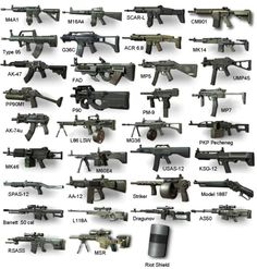 Armas do MW3..... Love to have in my home....
