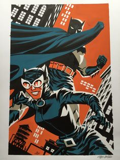 Michael CHO - Batman Catwoman painting