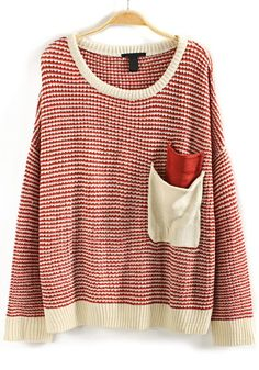 Double Pocketed Knit Sweater