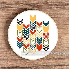 Geometric Chevron Cross Stitch Pattern>> love but I would do different colours