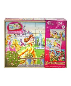 This Disney Princess & Fairies Wooden Puzzle Set by Disney is perfect! #zulilyfinds