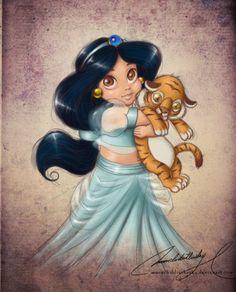 """So miss Gabrielle's """"Princess"""" days!  Jasmine was her favorite."""
