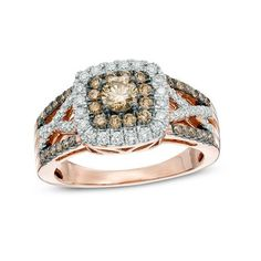 Zales 1/5 CT. T.w. Baguette and Round Diamond Crossover Ring in Sterling Silver Sw3wD