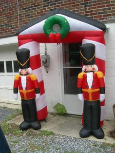 airblown inflatable christmas toy soldiers archway in box 9 feet tall toy soldierschristmas yard decorationschristmas shopping