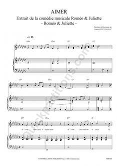 aimer roméo et juliette partition piano - Recherche Google