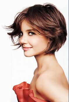 layered bob, un-polished look