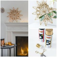 Make this beautiful Christmas star using plastic drinking straws.