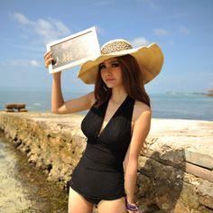 2013 new Korean female Siamese triangle chest swimsuit