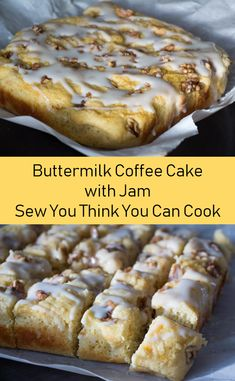 Buttermilk Coffee Cake with Jam for #CoffeeCakeDay from Sew You Think You Can Cook