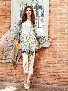 Tena Durrani Luxury Amethyst in Green Indian Salwar Suit, Indian Suits, Pakistani Suits, Latest Salwar Suits, Straight Cut Dress, Eid Dresses, Suit Shop, Cotton Suit, Indian Ethnic Wear