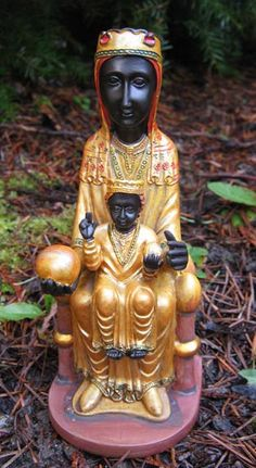 Black Madonna of Montserrat statuettes