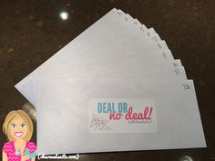 Booking game for #OrigamiOwl Jewelry Bars - Deal or No Deal!  Follow BRENDA STER on FB:  http://www.facebook.com/charmedsuite