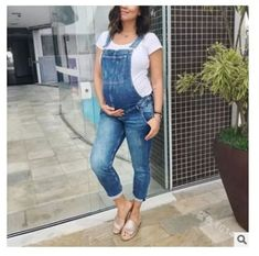 Loose Demin Maternity Strap Pant Pregnant Rompers Trousers for Pregnant Women Jeans Overalls Jumpsuit Clothes Pregnancy Clothing