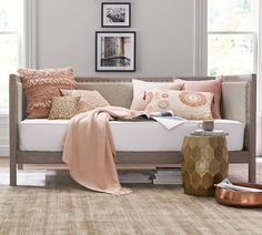 Shop Pottery Barn for expertly crafted wooden bedroom furniture. Browse our Toulouse Bedroom Collection and find upholstered wood beds, dressers and more. Daybed Mattress, Upholstered Daybed, Daybed Room, Foam Mattress, Entry Furniture, Bedroom Furniture, Wooden Bedroom, Furniture Sets, Bedroom Decor