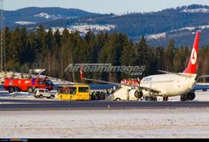 Turkish Airline 737 which had skidded off the runway.