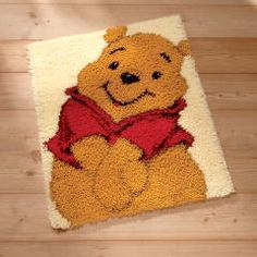 "WINNIE The Pooh latch hook rug kit 18""x26"" includes latch hook tool | eBay"