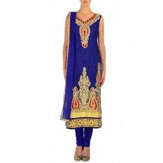 Embellished Dusk Blue Suit