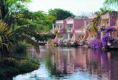 Hotel guest rooms along the meandering lagoons. Пляжные Отели, Элитные Отели, Озеленение, Naturaleza, Места, Цветы