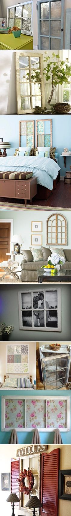 Ideas for Window Recycling Decor