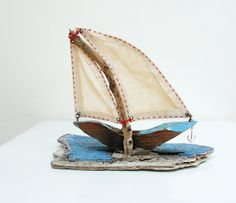 I am Sailing Driftwood Boat by StarHomeStudio on Etsy