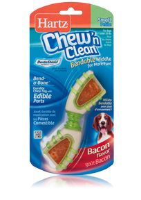 HartzR Chew N CleanR Bend A BoneTM Small Introducing