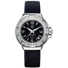 TAG Heuer Women's WAC1214.FC6218 Formula 1 Glamour Diamond Accented Watch TAG Heuer. $2295.00. Case diameter 35 millimeters. Water-resistant to 660 feet (200 M). TAG Heuer Swiss quartz movement. Diamond-set fixed bezel; luminous hands and hour markers; sapphire crystal dial; date window. Fold over clasp. Save 21% Off!