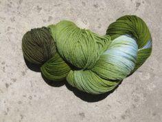 Sock Yarn  Superwash Merino/Nylon  Verdigris by GraceandFiber, $17.25