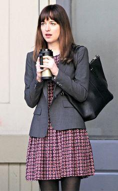 Dakota Johnson Shades Of Grey Movie, Fifty Shades Movie, Fifty Shades Trilogy, Fifty Shades Darker, Dakota Fanning, Elle Fanning, Christian Grey, Anastasia, Dakota Johnson Style