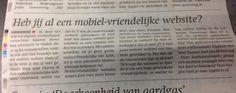 Sterc in de profrondekrant! Heb jij al een mobiel-vriendelijke website?http://www.sterc.nl/diensten/responsive-webdesign