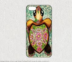 Cute little turtleiphone case iphone 4/4S case iphone 5 by lafang, $6.89