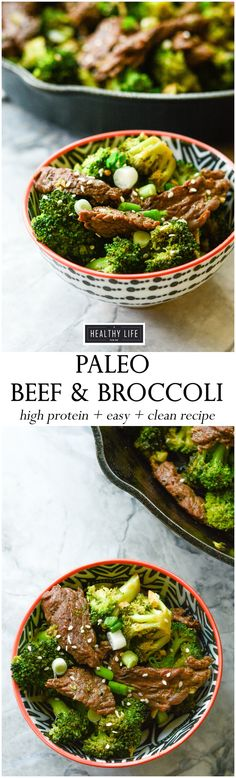 Paleo Beef and Broccoli is one massively delicious dinner recipe. And it is so dang easy, clean, healthy, packed full of a crap ton of protein, and did I say delicious, oh yea, it is delicious! - A Healthy Life For Me