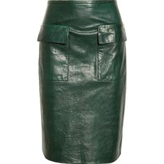 3.1 Phillip Lim Textured-leather skirt by None, via Polyvore