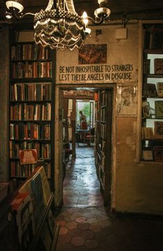 Be not inhospitable to strangers lest they be angles in disguise. The legendary Shakespeare & Company Paris 2014 Photo: Green Eyes 55