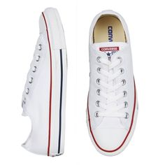 9472d41b85686 CHUCK TAYLOR ALL STAR LO CANVAS SNEAKERS WHITE ( 76) ❤ liked on Polyvore  featuring
