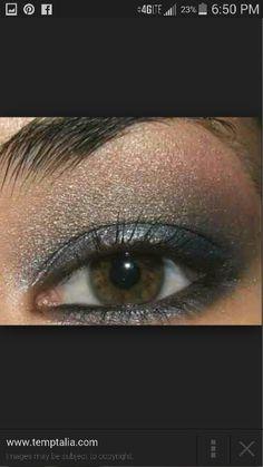 Grey & bronze smokey eye