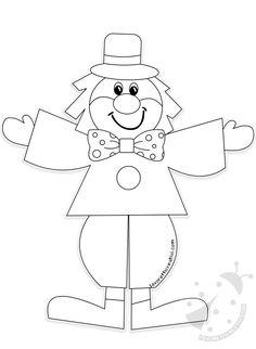 Decorazioni di Carnevale da realizzare a scuola Clown Crafts, Xmas Crafts, Crafts For Kids, Drawing Lessons For Kids, Art Drawings For Kids, Circus Birthday, Birthday Party Themes, School Wall Decoration, Theme Carnaval