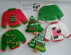 Its all about #UglySweaters ❤ #uglysweaterscookies #mycookiecreations #cookies #christmascookies #christmas #beugly