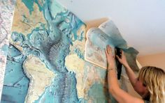 map wall for boys room